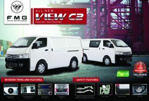 brochure panel Van- Foton View C2 Petrol & Diesel in Malaysia