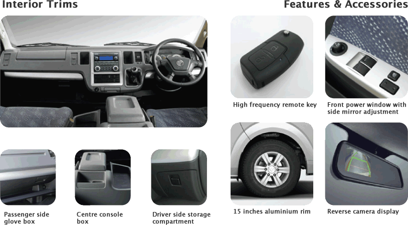 interior accessories - Foton View CS2 Diesel in Malaysia